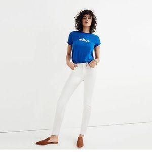 "Madewell 9"" High Riser Skinny Jeans White Sz 26"